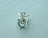 Silver Ear Cuff Swirl Sterling Silver Earcuff earring summer fashion eco friendly minimalist jewelry