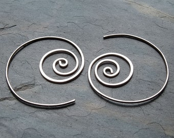 Silver Hoop Earrings Unraveling Sterling Silver Hoops Coiled Hoop spring fashion eco friendly jewelry