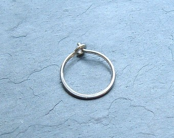 Small Silver Hoop Earring Single, minimalist Jewelry Simple Hoop Eco Friendly Gift for Her, Gift for Him, Silver jewelry gift