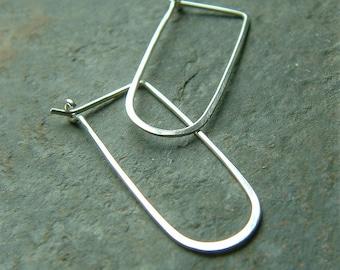 Silver Hoop Earrings Modern Hoop Earrings Sterling Silver Hoops, eco friendly jewelry