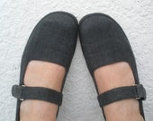 Vintage gray Maryjanes Shoes Size 9