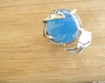 Blue Chalcedony Vine Ring