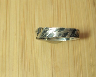 Sterling Silver Textured Stackable Ring size 3 3/4