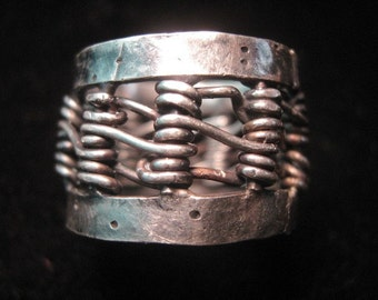 Sterling Silver Woven ring size 6.75