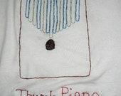 Hand Embroidered Thumb Piano (Kalimba) T-shrt