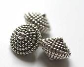 Large metalic dotted bicones - set of 3 - Half Price