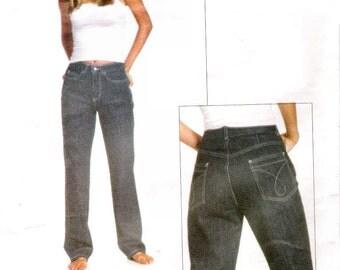 Vintage Pattern Vogue 2264 American Designer Calvin Klein Jeans 90s Size 8 UNCUT