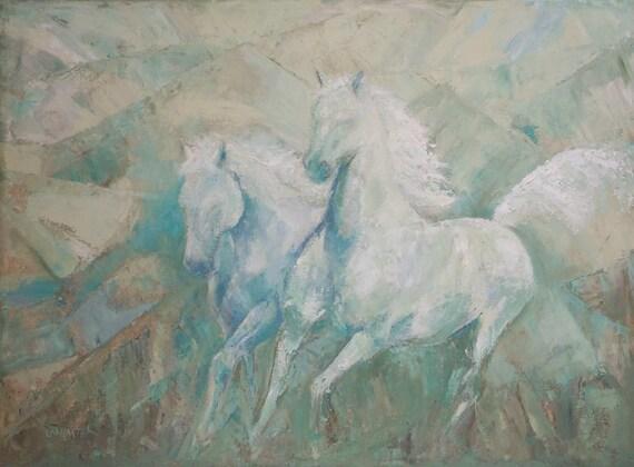 Beloved horse art print Spirit Horses of Love