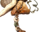NATURE GIRL - Genuine Beach Stones Necklace - Natural Pebbles