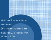 Blue b Baby Shower Invitation
