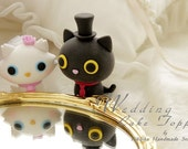 kitty and cat Wedding Cake Topper---k857