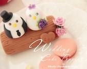 love bird with branch Wedding Cake Topper (K351)