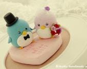 penguin wedding cake topper --Special Edition (K202)
