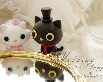 kitty wedding cake topper, cat Wedding Cake Topper---k857