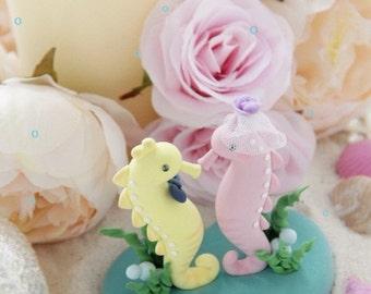seahorse Wedding Cake Topper---k622