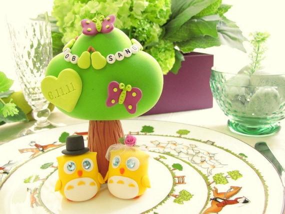 Owls Wedding Cake Topper