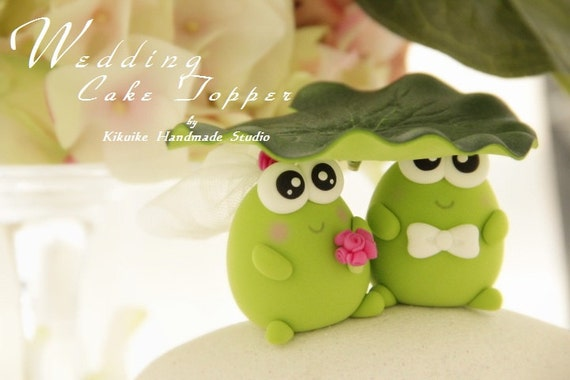frog  Wedding Cake Topper----k701