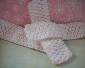 Crocheted Toddler Headbands 3 Headbands White