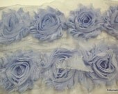 Shabby Williamsburg Blue  Color, Roses, Trim,1 Yard, 13-15 Roses in a Yard,
