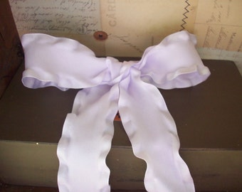 """Lavender Double Ruffled Ribbon 1.5"""" Wide"""