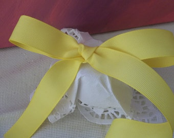 "Yellow Grosgrain Ribbon 2 yards 7/8"" wide"