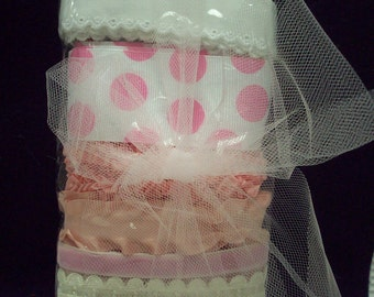 Ribbons,trims,laces and tulle and roses