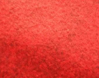Red Felt Heather - 1 yard  - 38 inches wide