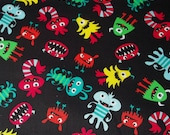 Little Monsters Fabric Last Piece 18 inches