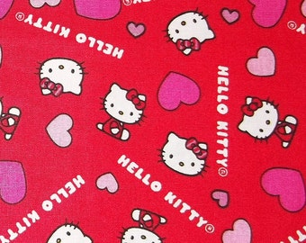 Love Hello Kitty Fabric By The Yard FBTY