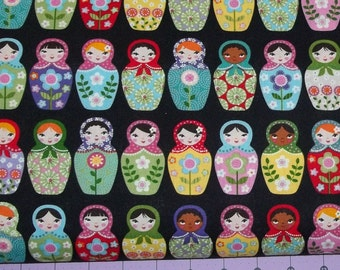 Matryoshka Russian Nesting Dolls Fabric By The Yard