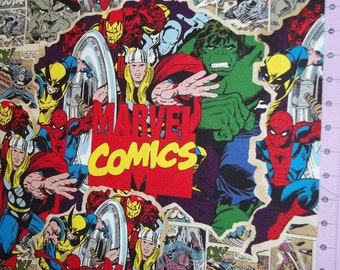 Breakthrough Marvel Comic  Fabric By The Yard FBTY
