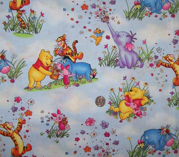 Winnie The Pooh Heffalump Fabric By The Half Yard