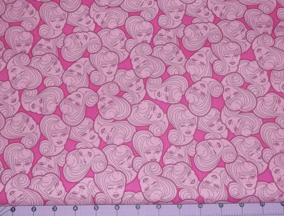 Reserved Listing for Nancy Pink Barbie Fabric 2.5 Yards