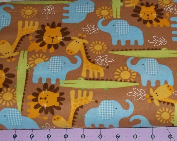 Jungle Animals Fabric By The Yard