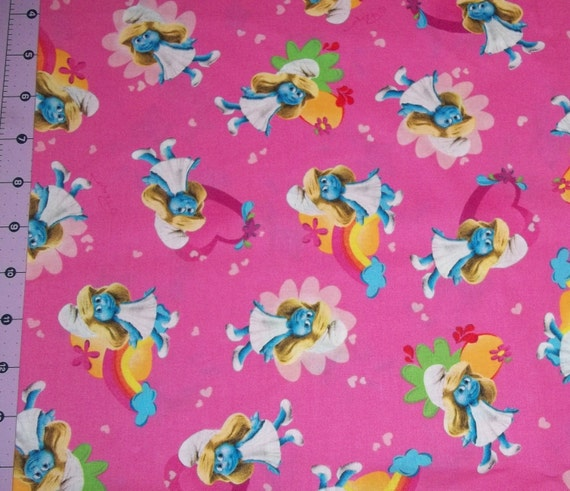 Smurfette Fabric By The Yard FBTY