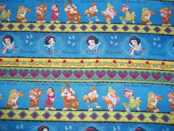 Snow White and the 7 Dwarfs Fabric End of Bolt