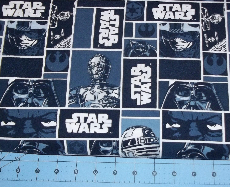 Star wars blocks fabric by the yard fbty for Star wars fabric