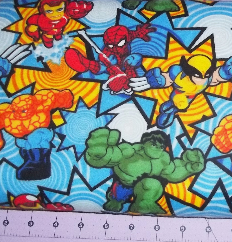 Marvel Superhero Flannel Fabric By The Yard FBTY