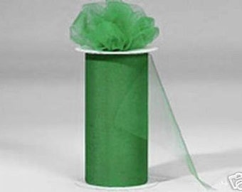 6 inch x 300  ft  nylon tulle roll KELLY GREEN-**On Sale Now **