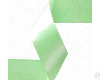 1/4 inch x 100 yds  Mint SF Satin Ribbon