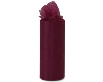 "6 inch x 100 yds ""Import"" Nylon Tulle Roll - WINE-Fall Special only 5.99 roll"