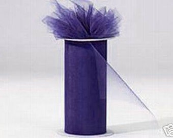 6 inch x 75 ft Nylon Tulle - DK PURPLE   (only 2.25 per roll)