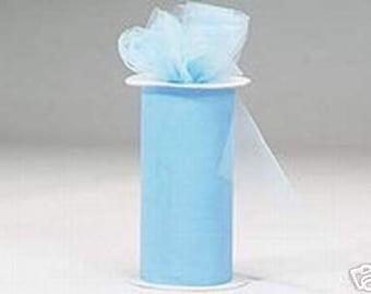 6 inch x 75 ft Nylon Tulle - LIGHT BLUE   (only 2.25 per roll)