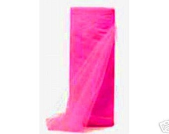 54 x 50 yd  Bolt of Top Quality Made In The USA Tulle Bolt -- SHOCKING PINK