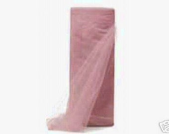 """108"""" x 50 yd  Bolt of Top Quality Made In The USA Tulle Bolt -- Dusty Rose"""