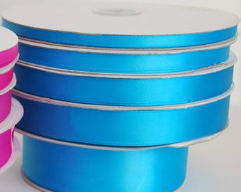 7/8 x 100 yd Single Face Satin Ribbon --- Turquoise