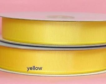 5/8 x 50 yds GROSGRAIN RIBBON - Yellow...*Save 25%*