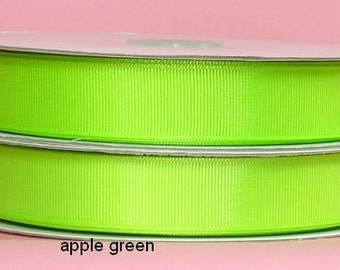 5/8 x 50 yds Grosgrain Ribbon - APPLE GREEN