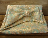 Genevieve Clutch in Pastel Brocade