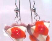 Polymer Clay - Cherry Cheesecake Earrings